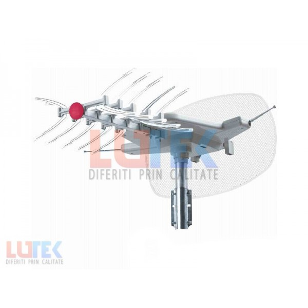 Antena TV rotativa cu amplificator (SNA-2000TG) - www.lutek.ro
