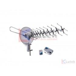 Antena TV rotativa cu amplificator si telecomanda