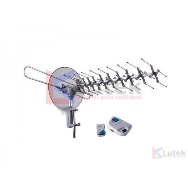 Antena TV rotativa cu amplificator si telecomanda (SNA-893TG) - www.lutek.ro
