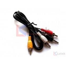 Cablu Jack 3 RCA audio video