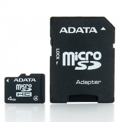 Card micro SD 4GB cu adaptor SD