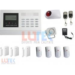 Kit alarma wireless LCD cu apelare GSM
