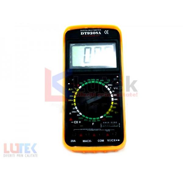 Multimetru aparat de masura DT9208A (LTK-DT-9208A) - www.lutek.ro