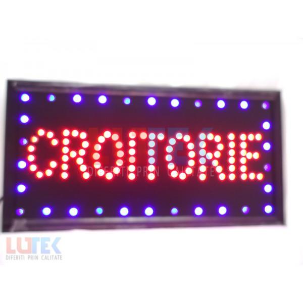 "Reclama luminoasa Led ""Croitorie"" cu animatie (LTK-DSPCT) - www.lutek.ro"