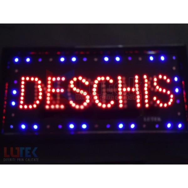 "Reclama luminoasa Led ""InchisDeschis"" cu animatie (LTK-DSPID) - www.lutek.ro"