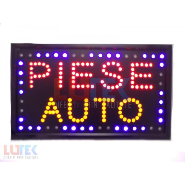 "Reclama luminoasa Led ""Piese Auto"" cu animatie (LTK-DSPPA) - www.lutek.ro"