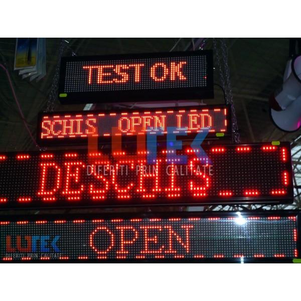 Reclama luminoasa Led programabila rosu (LTK-DSPR03) - www.lutek.ro