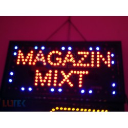 "Reclama luminoasa ""Magazin Mixt"" cu animatie"