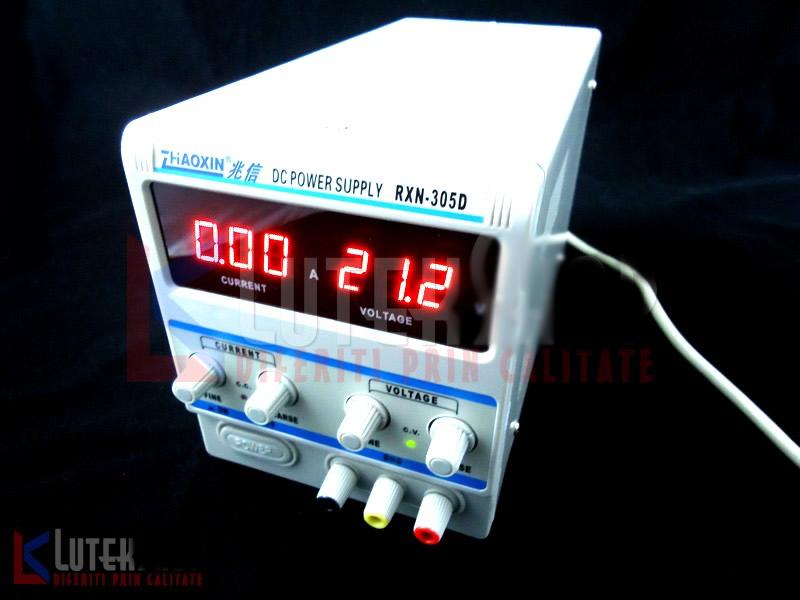 Sursa de laborator, simpla, af. digital, 0-30V - 0-3A - ZHAOXIN RXN-303D (RXN-303D) .