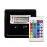 Proiector LED RGB 10W cu telecomanda