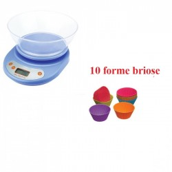Cantar bucatarie 5 kg + 10 forme briose