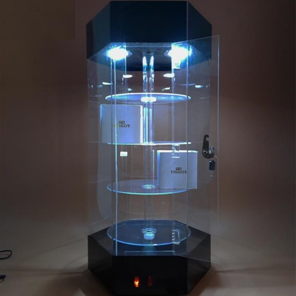 Vitrina  rotativa din plexiglas pentru ceasuri si bijuterii (LTK-VIT30) - www.lutek.ro