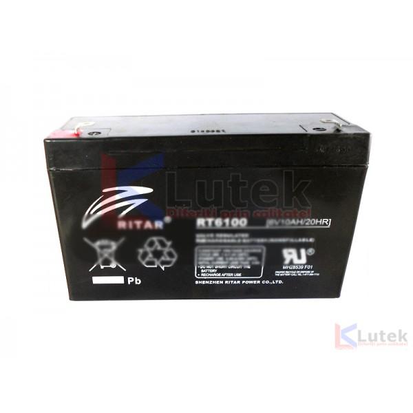 Acumulator 6V Globstar 10Ah (RT6100) - www.lutek.ro
