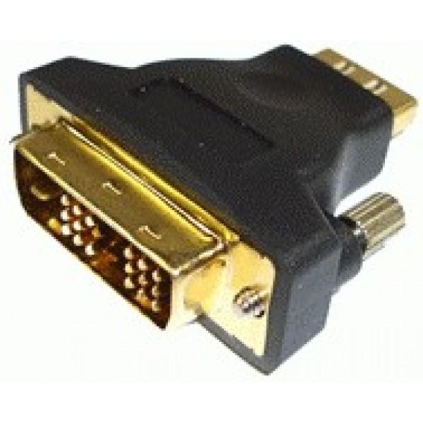 Adaptor HDMI 1xMama / 1xDVI-D Tata (LTK-ADHD01) - www.lutek.ro