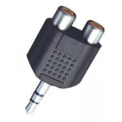 Adaptor Jack 3,5 la 2 x RCA Mama stereo