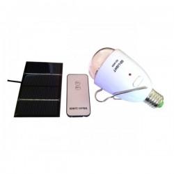 Bec led cu acumulator incarcare solara si telecomanda