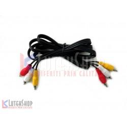 Cablu 3 RCA tata / 3 RCA tata 1.5m