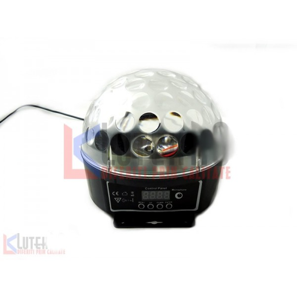 Disco Ball Luminos cu Led 3 culori (LTK-DIS-003) - www.lutek.ro