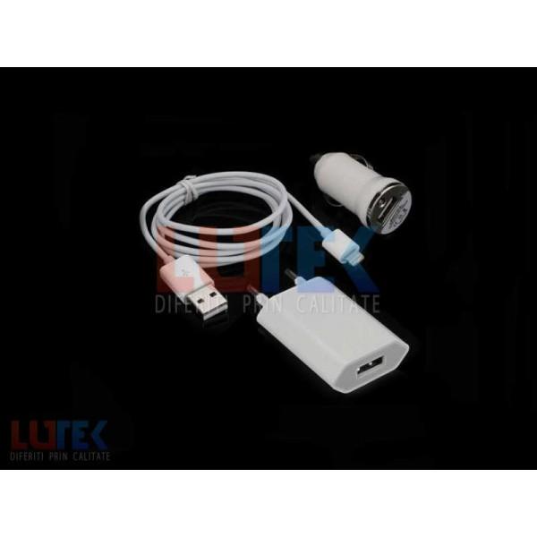 Incarcator 3in1 Iphone 5 (LTK-IP05) - www.lutek.ro