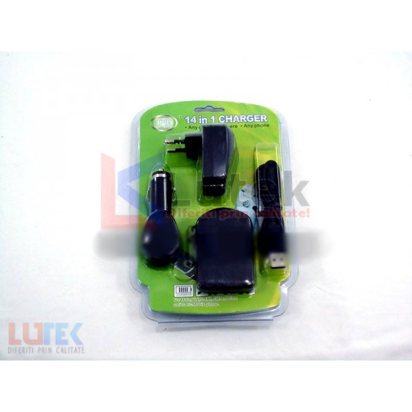 Incarcator universal telefon  gsm 14 in 1 (LTK-PD14-1) - www.lutek.ro