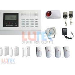 Kit alarma wireless LCD cu apelare GSM