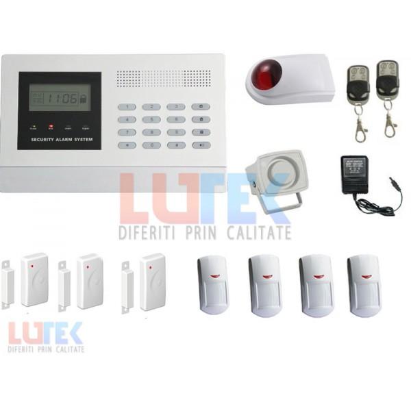 Kit alarma wireless LCD cu apelare GSM (LTK-KTSP01) - www.lutek.ro