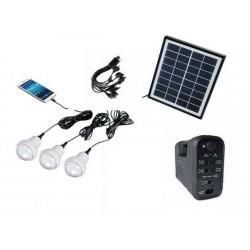 Bec solar cu lanterna si kit incarcare GSM