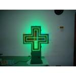"""Reclama luminoasa """"Cruce farmacie"""" 2 culori (CF2CE) - www.lutek.ro"""