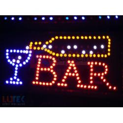 "Reclama luminoasa Led ""Bar"" cu animatie"