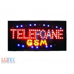 """Reclama luminoasa Led """"Telefoane GSM"""" cu animatie"""