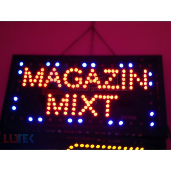 "Reclama luminoasa ""Magazin Mixt"" cu animatie (LTK-DSPMM) - www.lutek.ro"